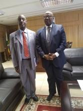 Dr Gasasira and Honorable Minister Cain Mathema