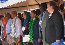 Leaders at the Garissa HOA launch including Dr Rudi Eggers (extreme right) and members from the four countries