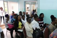 Cross section of media Practitioners and health Workers who attended the Press launch