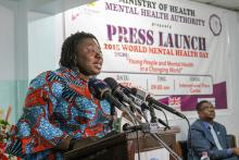 Dr Apau, Executive Director of the Accra Psychiatric Hospital delivering the keynote address at the Function