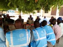 Polio field volunteers' in Magumeri LGA meeting on special interventions in Borno State
