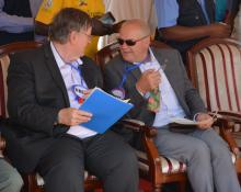 Kenya Country Representatives Dr Rudi Eggers (WHO) with Mr Werner Schultink (UNICEF)