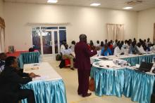 Dr Lako addressing the participants