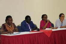 Ms Patience Musanhu, Gavi Senior Country Manager for South Sudan delivering her remarks during the closing session