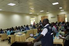 Field EPI Officer making a presentation on the performance of the state
