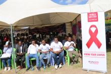 The 30th World AIDS DAY commemoration participants