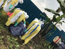 Dignified burial, Rubavu-Rugerero Ebola Treatment Center