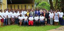 WHO, Ministry of Health and CTCA officials with the trained researchers