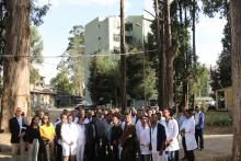 Group photo while visiting Petros specialized hospital
