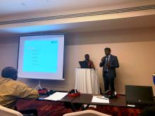 Mr Ajoy Nundoochan, National Professional Officer (Operations) presenting one of the abstracts during the afHEA Conference in Ghana in March 2019