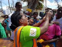 Cholera vaccination in Beira, Mozambique