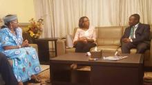 Dr Moeti meets with Togo's health minister
