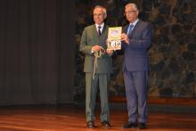 The launching of the NCDs and Risk Factors booklet by Dr. Hon P. Jugnauth, Prime Minister of Mauritius (left) in the presence of Health Minister, Dr Hon. A. Husnoo