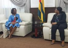 Dr Moeti meets with the President of Togo's National Assembly