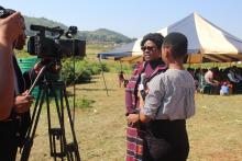 Dr Cornelia Atsyor addressing members of the media during the event