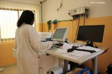 A researcher at work at Brazzaville's sickle cell center