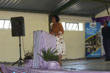 The Minister of Health making her remarks