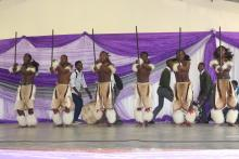 Students from Mlumati High school performing Swazi traditional dance