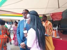 Dr Owen Kaluwa engaged in media interactions after the official function