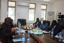 Meeting of officials from WHO and Ministry of Health during the handover ceremony