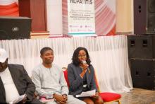 WHO's Dr Funke Ilesanmi  of WHO making remarks during an interactive session
