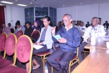 A section of the participants asking questions