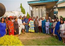 Group photograph of the African Regional Certification Commission team and staff of the Ibadan Polio laboratory