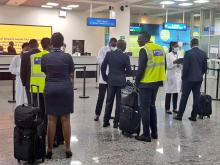 All travelers are screened on coronavirus on arrival at Kigali Aiport