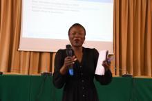 UN Resident Coordinator, Ms Susan Ngongi making remarks