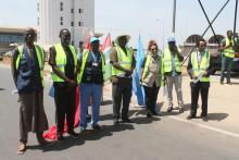 Partners in solidarity awaiting arrival of Cargo at Banjul International Airport