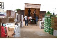 Donation of IPC and laboratory supplies by WHO in Monrovia