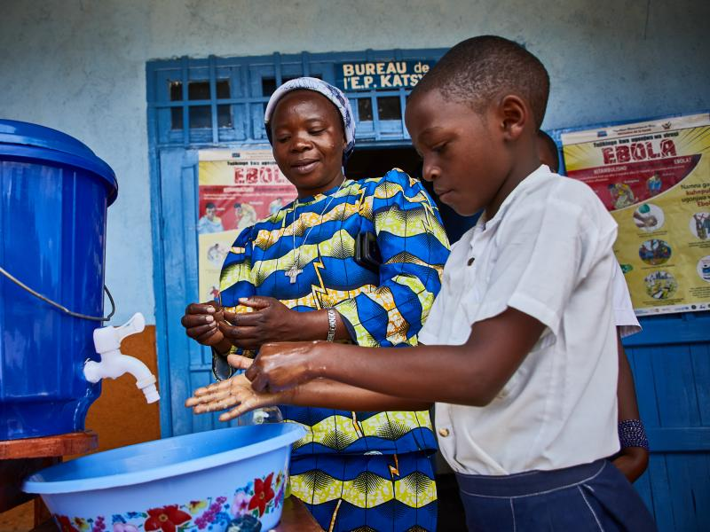 Good handwashing habits for good health in the Democratic Republic of the Congo