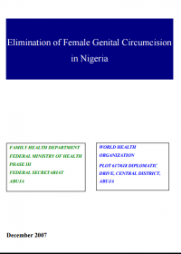 Elimination of Female Genital Circumcision in Nigeria