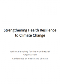 Strengthening health resilience to climate change
