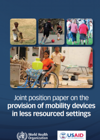 Joint position paper on the provision of mobility devices in less resourced settings