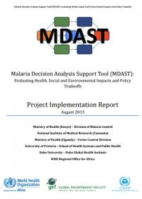 Malaria Decision Analysis Support Tool (MDAST)