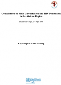 Consultation on Male Circumcision and HIV Prevention in the African Region