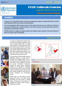 ETHIOPIA Update sheet on WHO - UNOPS polio outbreak response collaboration 2014