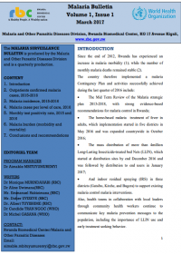 Rwanda - Malaria Bulletin Volume 1, Issue 1 March 2017