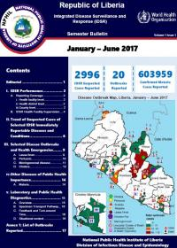 Liberia Integrated Disease Surveillance and Response (IDSR) Semester Bulletin: Jan-June 2017