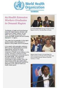WHO Namibia August 2017 Newsletter: Vol 1, Issue 4
