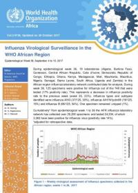 Influenza Virological Surveillance in the WHO African Region, Epidemiological Week 36, 2017