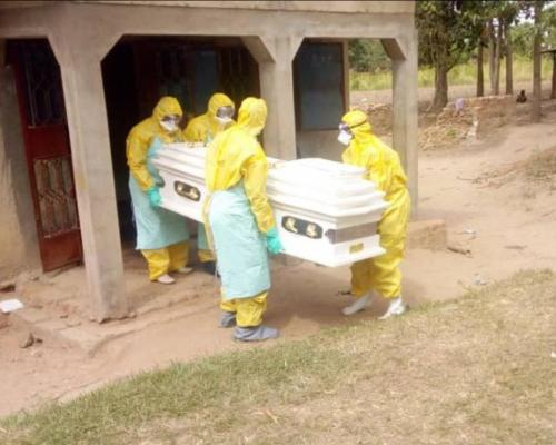 Ministry of Health burial team assists to send the deceased off in a safe a dignified burial